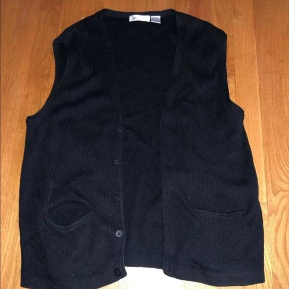 Claiborne Other - Claiborne Men's Black Sweater Vest - Size L